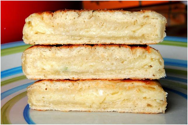 khachapuri slices