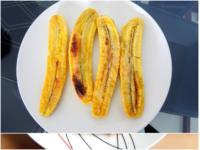 keLyachee puranapoli roasted plantain